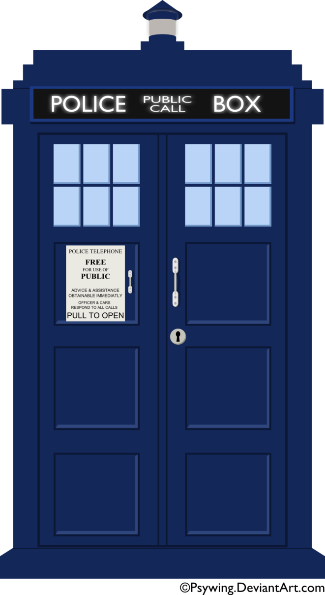 Transparent tardis silhouette. Png vector free icons