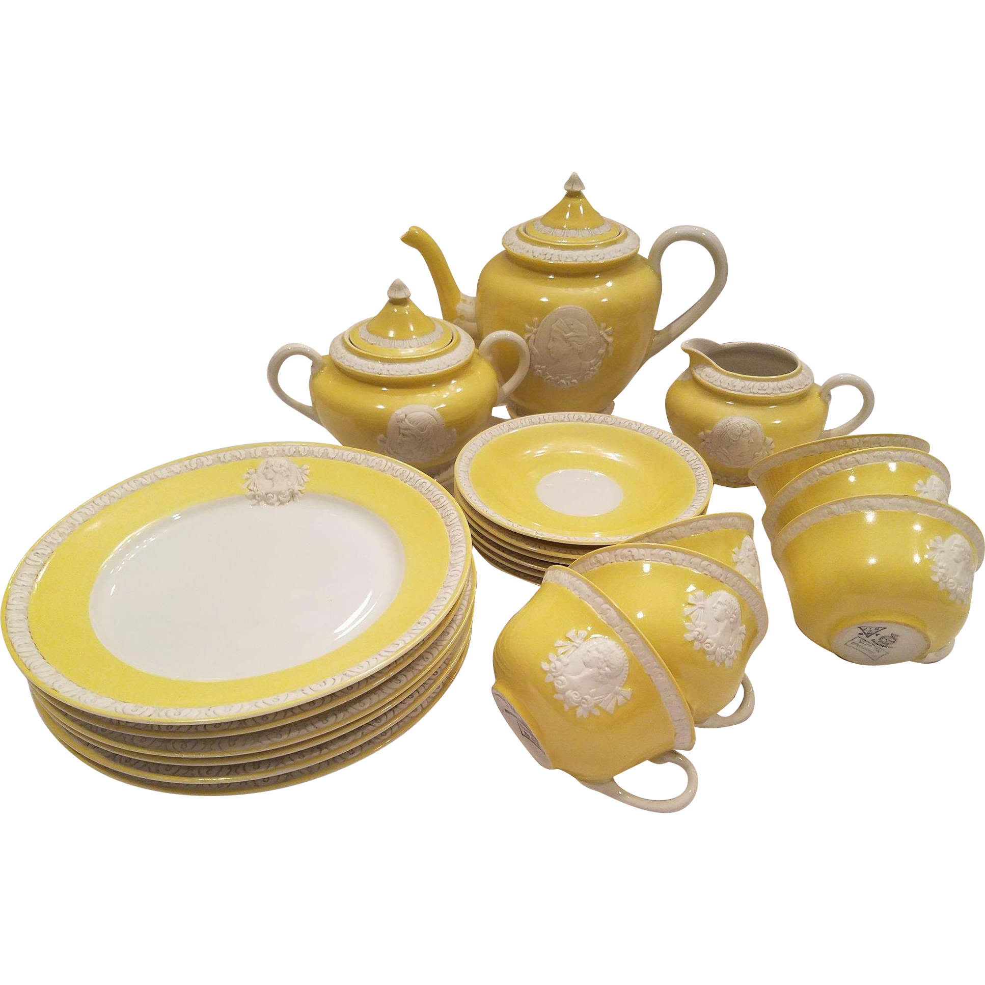 Transparent tea yellow. Dainty musterschutz czechoslovakia union