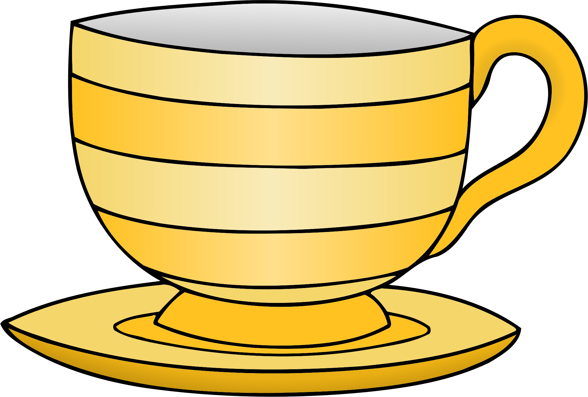 Transparent tea yellow. Clipart cup huge