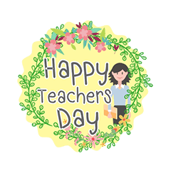 Transparent teacher teacher's day. Happy teachers line stickers