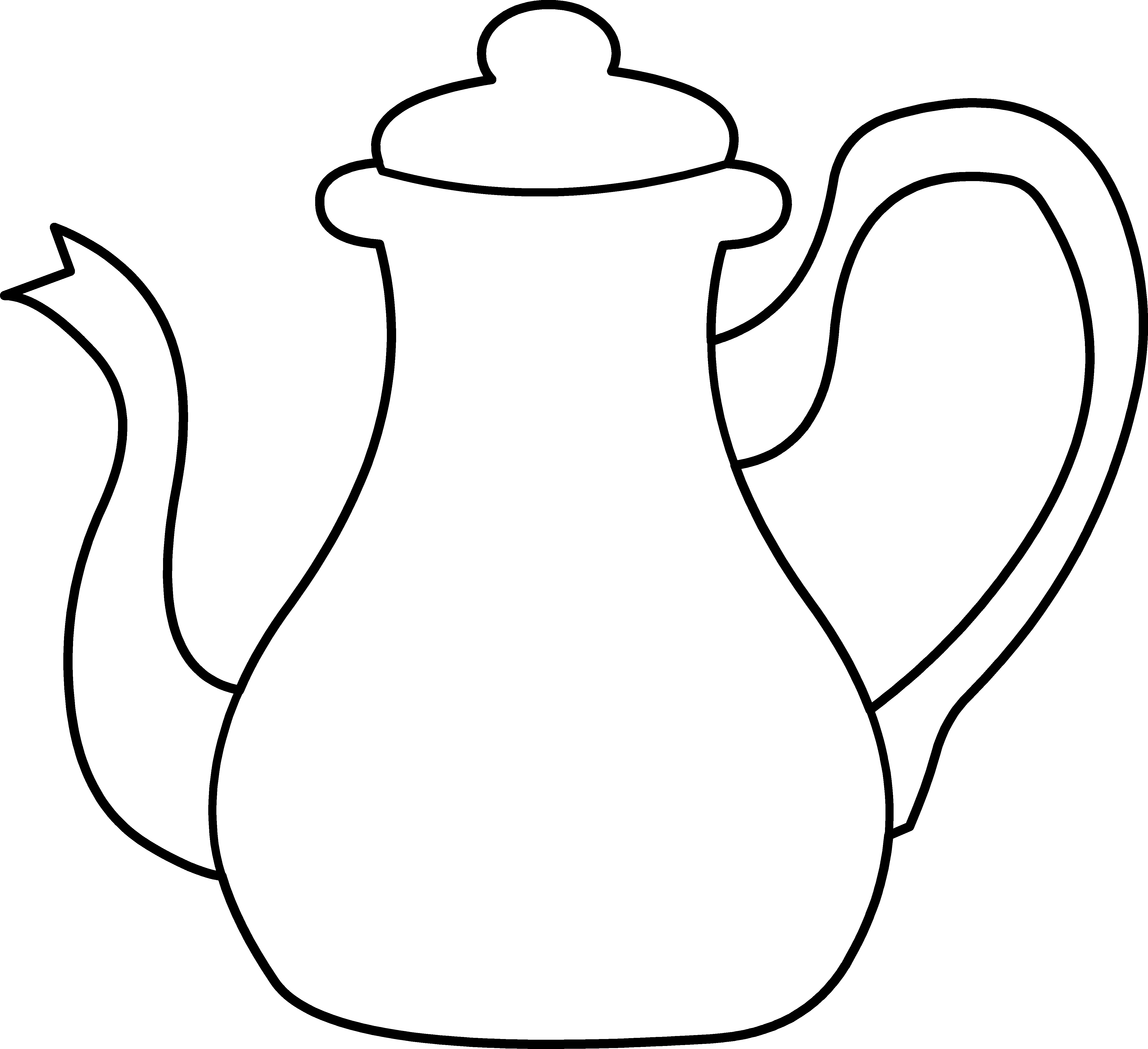 Kettle drawing mad hatter. Free svg black