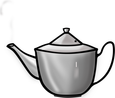 Transparent teapot cartoon. Computer icons kettle free