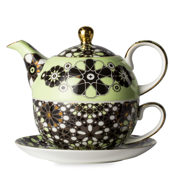 Transparent teapot one. Dazed and dazzled black