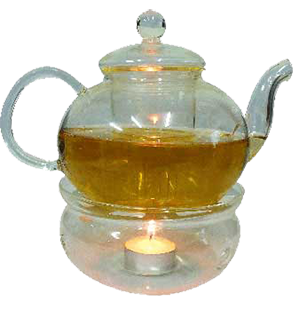 transparent teapot tea light candle warm