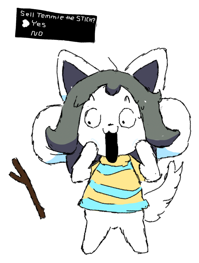 Transparent temmie deviantart. Sell the stick by