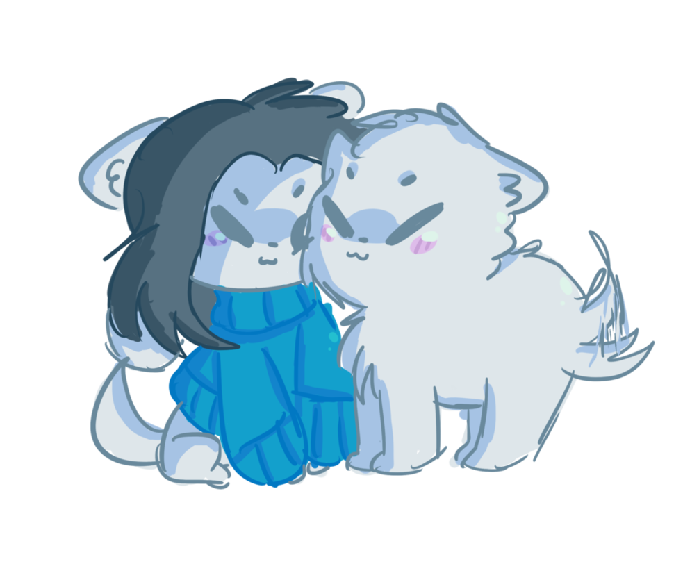Transparent temmie ghost. X annoying dog by