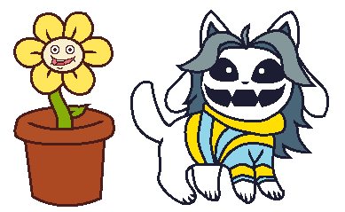 Transparent temmie underswap. Flowey and by yoongified