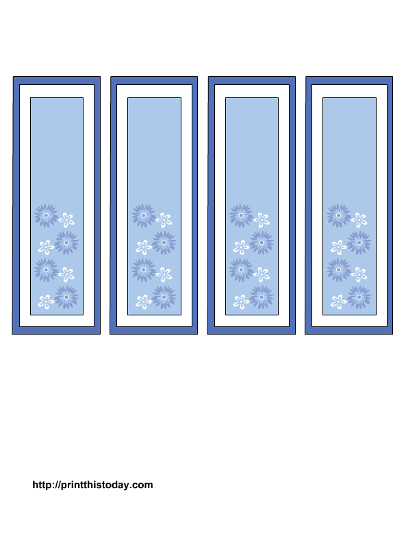 Transparent templates bookmark. Mother s day bookmarks