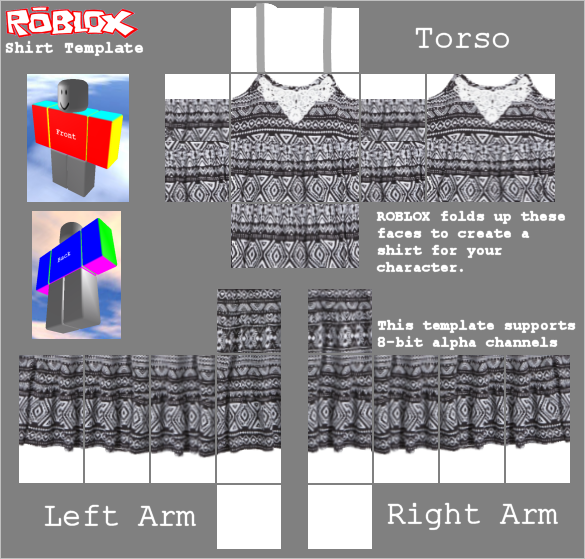Transparent templates clothing roblox. Shirt template x yelom
