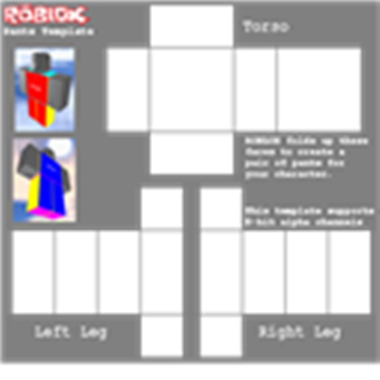 Transparent templates roblox. Pants template