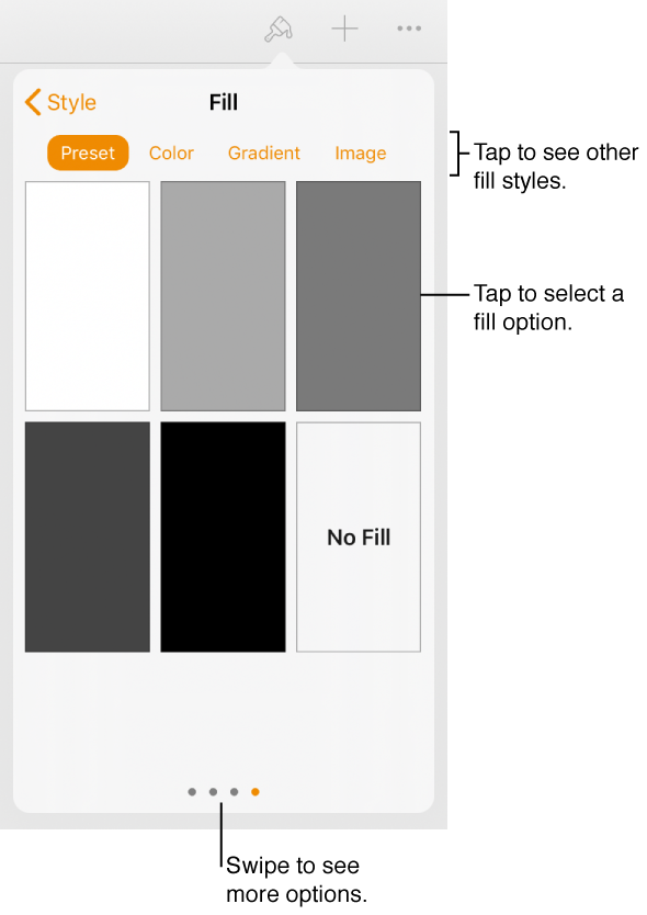 Transparent textbox square. Pages for ipad fill