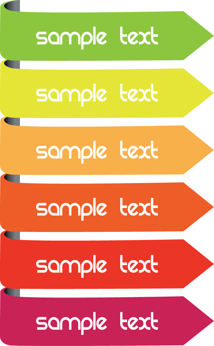 Transparent textbox colorful. Arrow text box icon