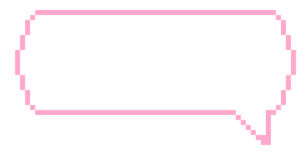 Transparent textbox pixel. Xl pink text box