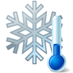 Transparent thermometer cold. Iconsland weather by icons