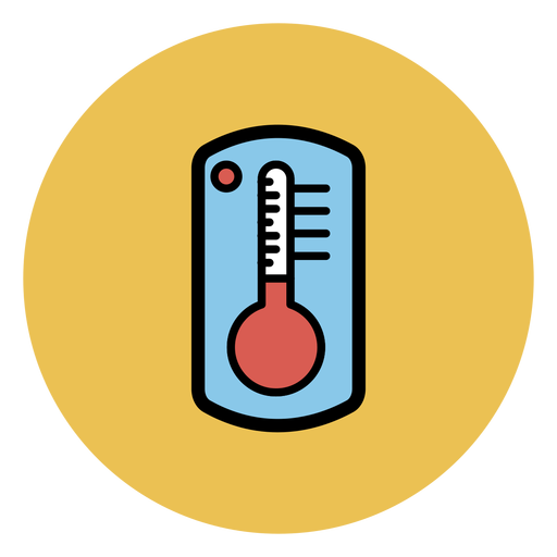 Transparent thermometer coloured. Colorful icon png svg