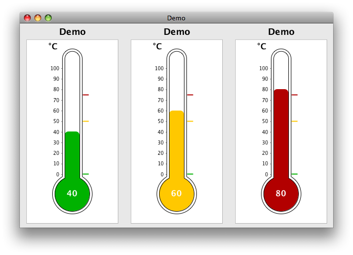 Transparent thermometer coloured. Changing mercury color in