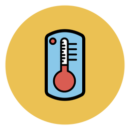 Transparent thermometer coloured. Icon png svg vector
