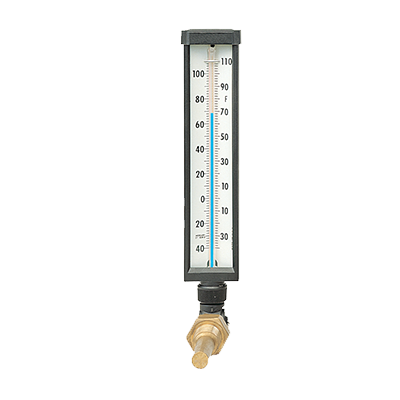 Transparent thermometer glass. Model ti industrial thermometers