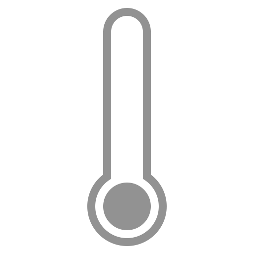 Transparent thermometer low. Icon