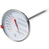 transparent thermometer meat