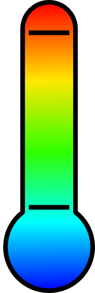 Transparent thermometer green. Free weather cliparts download