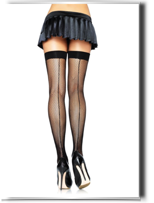 transparent tights back seam