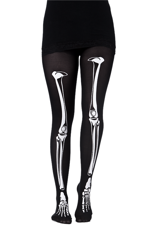 Transparent tights skeleton. I really want some
