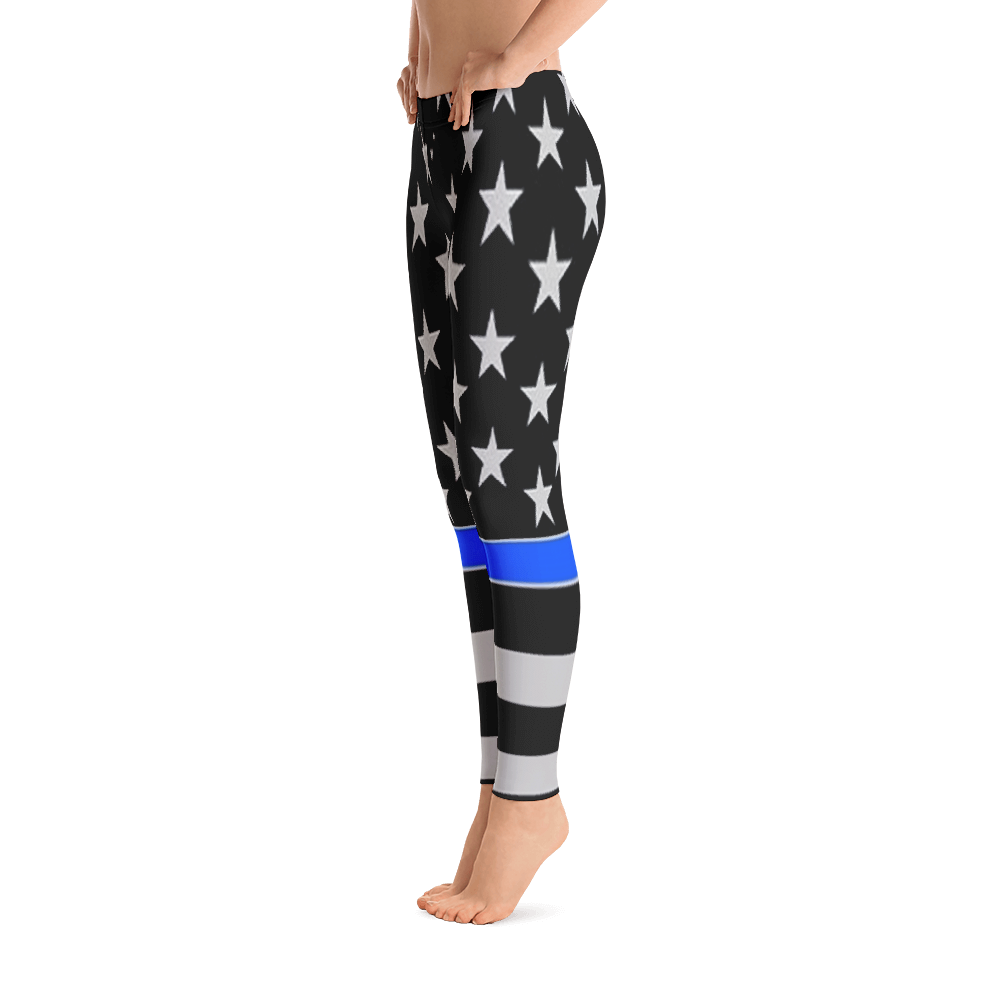 Transparent tights thin. Blue line leggings policehubs