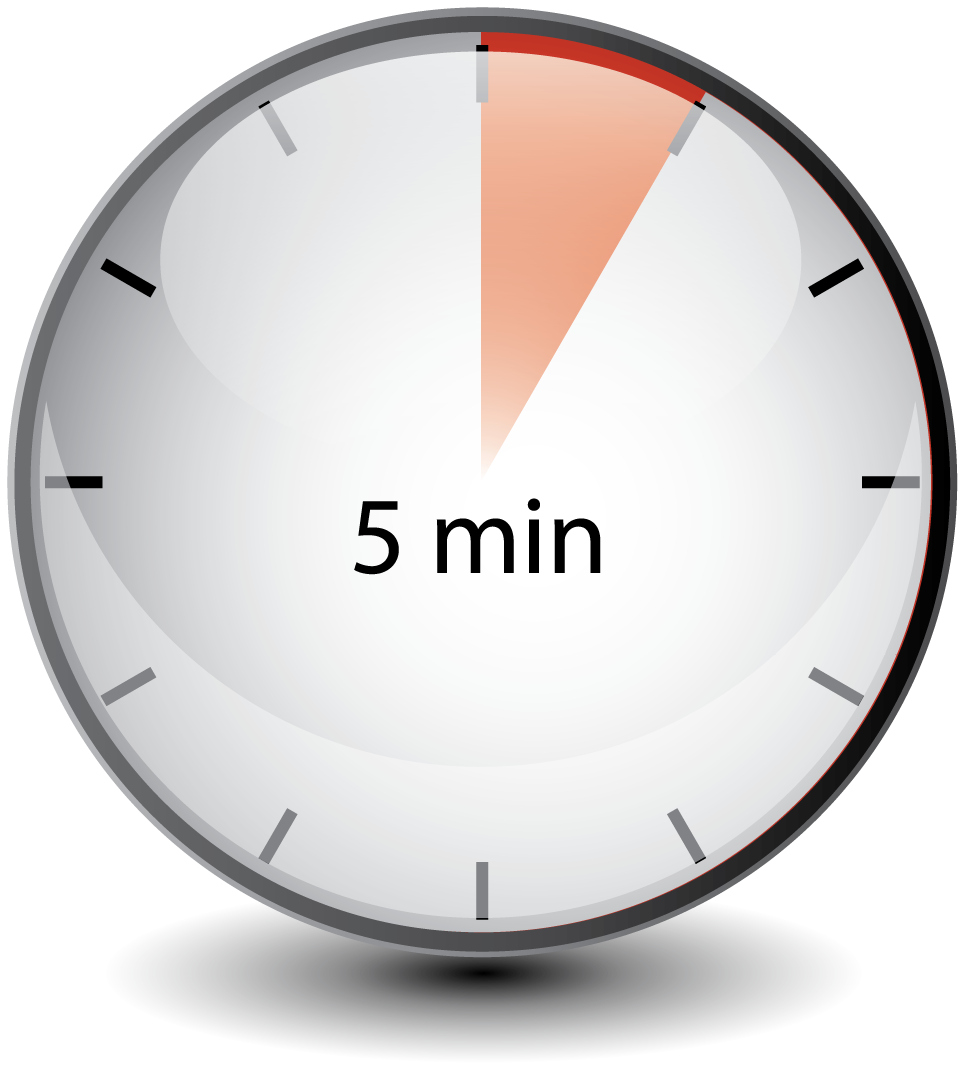 Transparent timer 5 minute. Clickfx try us today