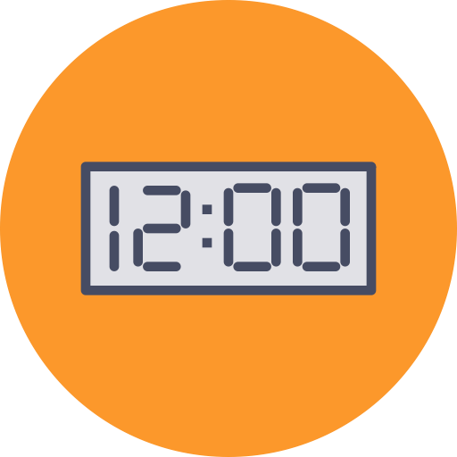 Transparent timer 60 seconds. Clipart second for free