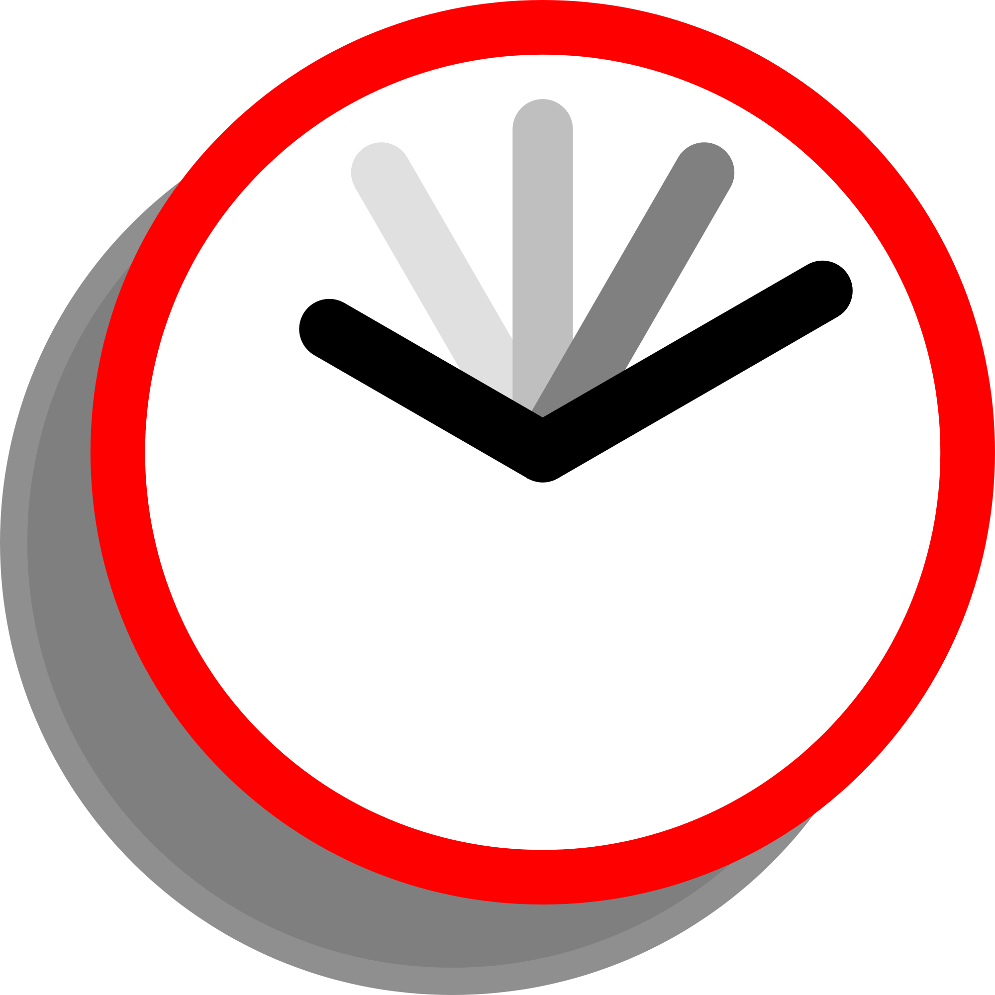 Transparent timer cartoon. File current event clock