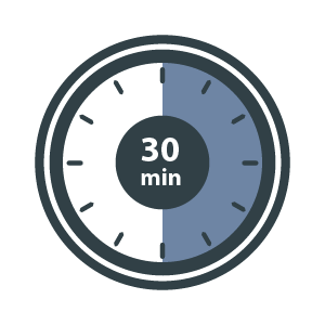 coaching session prue. Stopwatch transparent 30 minute svg