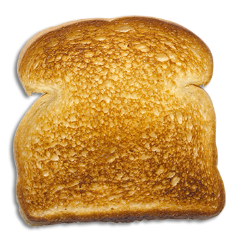 Transparent toast lightly toasted. Welcome image