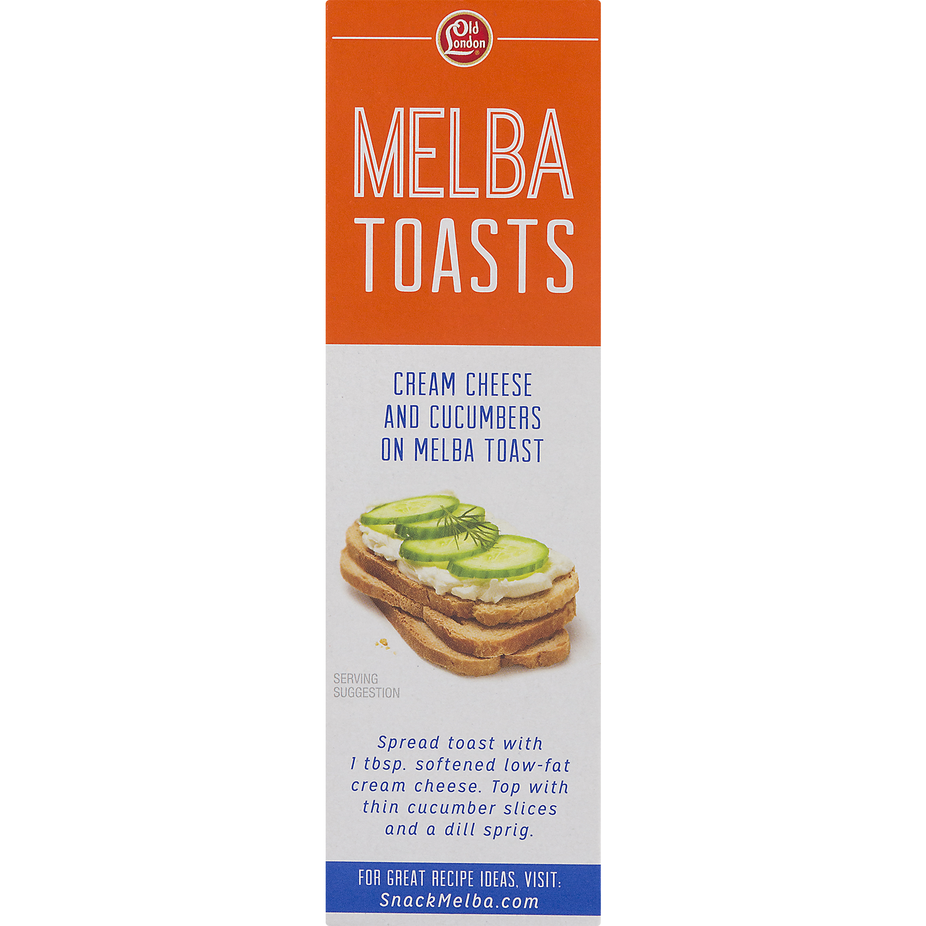 Transparent toast old. London classic melba oz