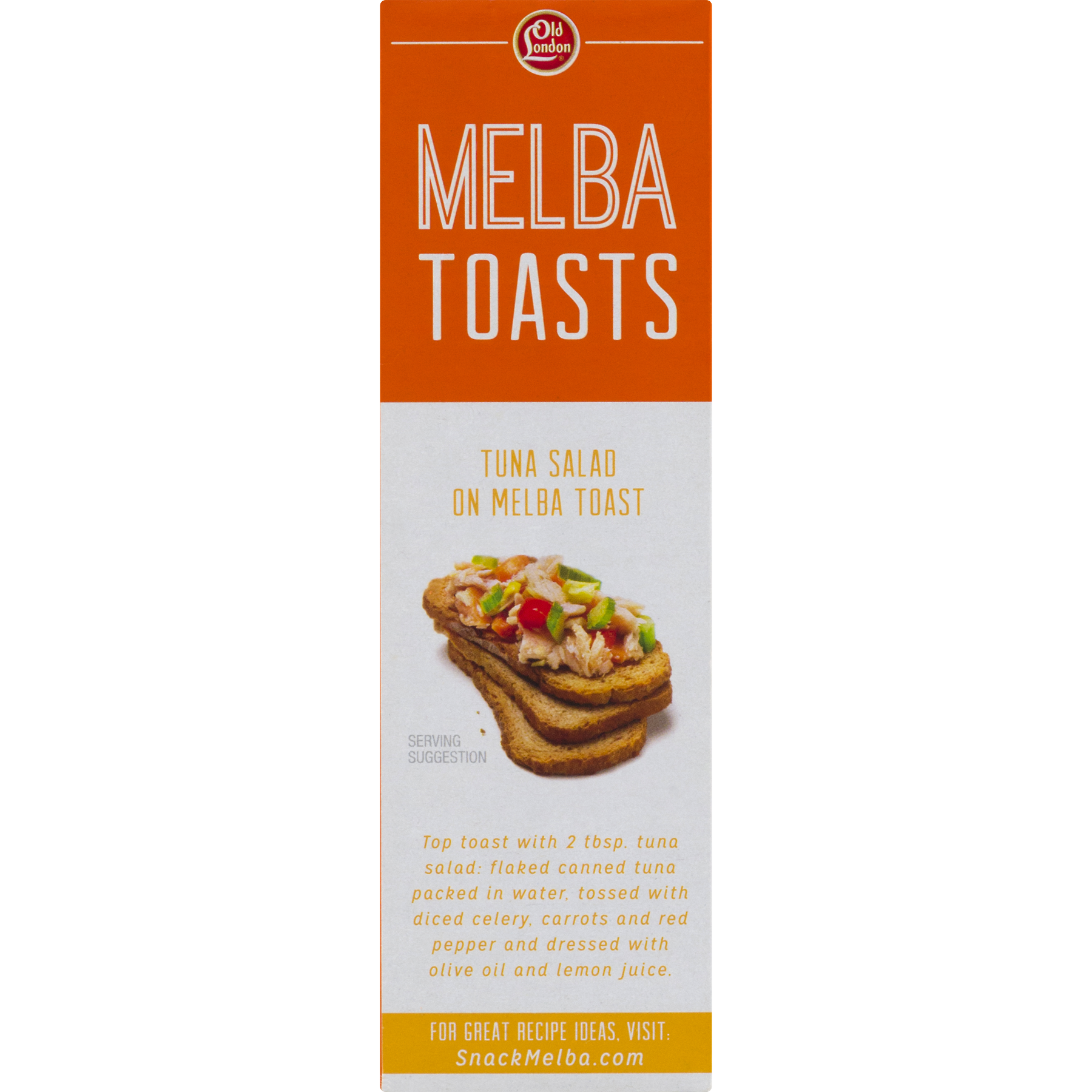Transparent toast old. London melba wheat toasts