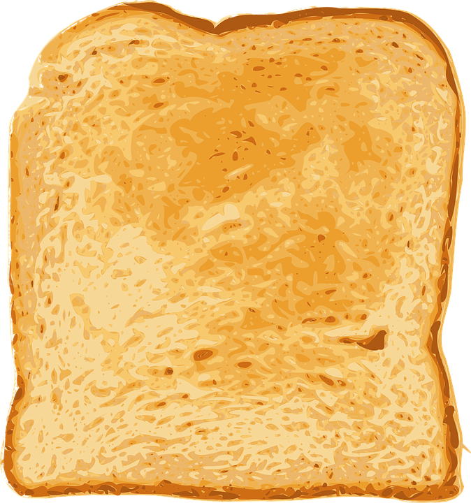 Transparent toast sliced. Clipart stale bread