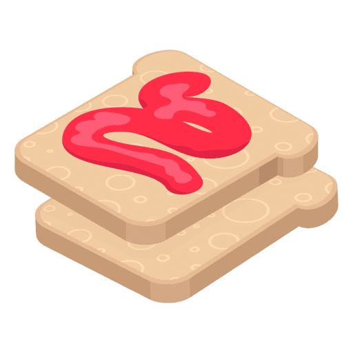 Transparent toast svg. With jam png vector