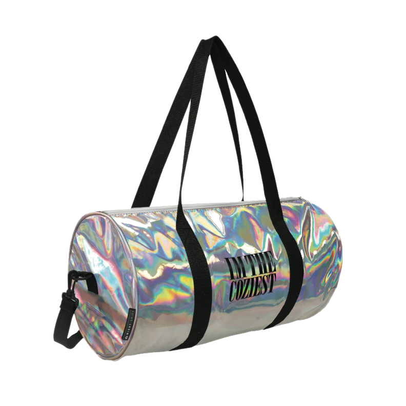 Transparent totes holographic. Overnight duffle bag night