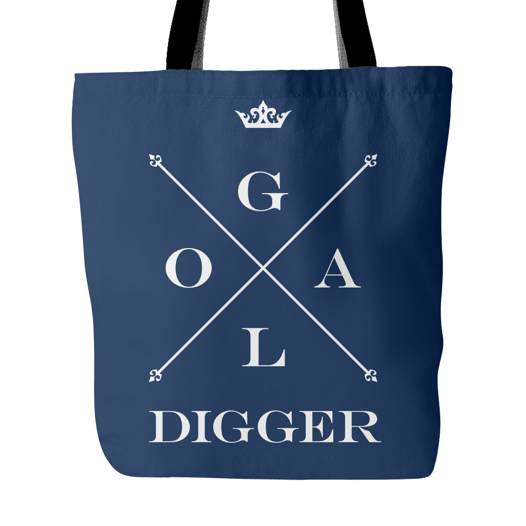 Transparent totes lazy oaf. Goal digger canvas tote