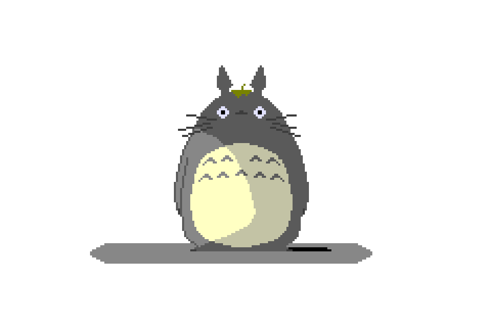 Transparent totoro background. Newbie first drawing based