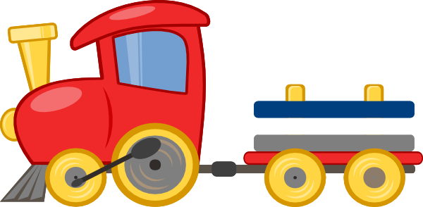 Transparent train choo. Collection of clipart