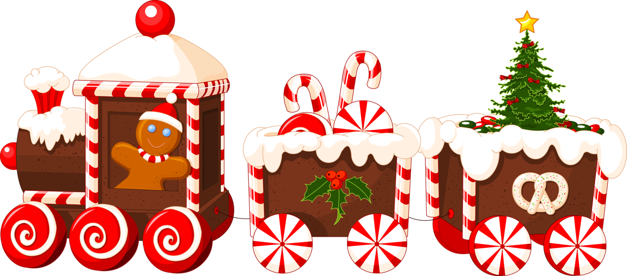 Transparent train christmas. Content png gingerbread clip