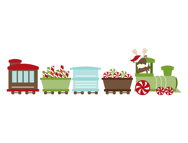 Transparent train christmas. Wall decal weedecor