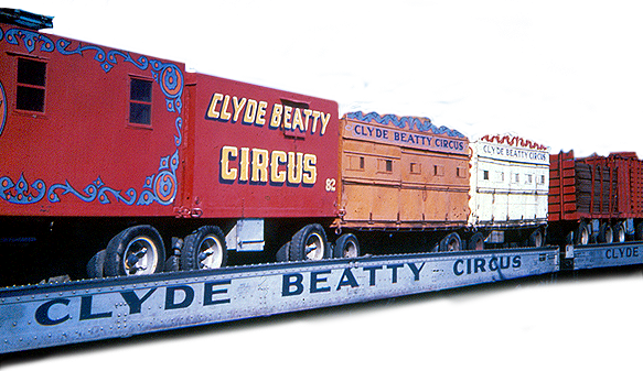 Transparent train circus. Clyde beatty home page