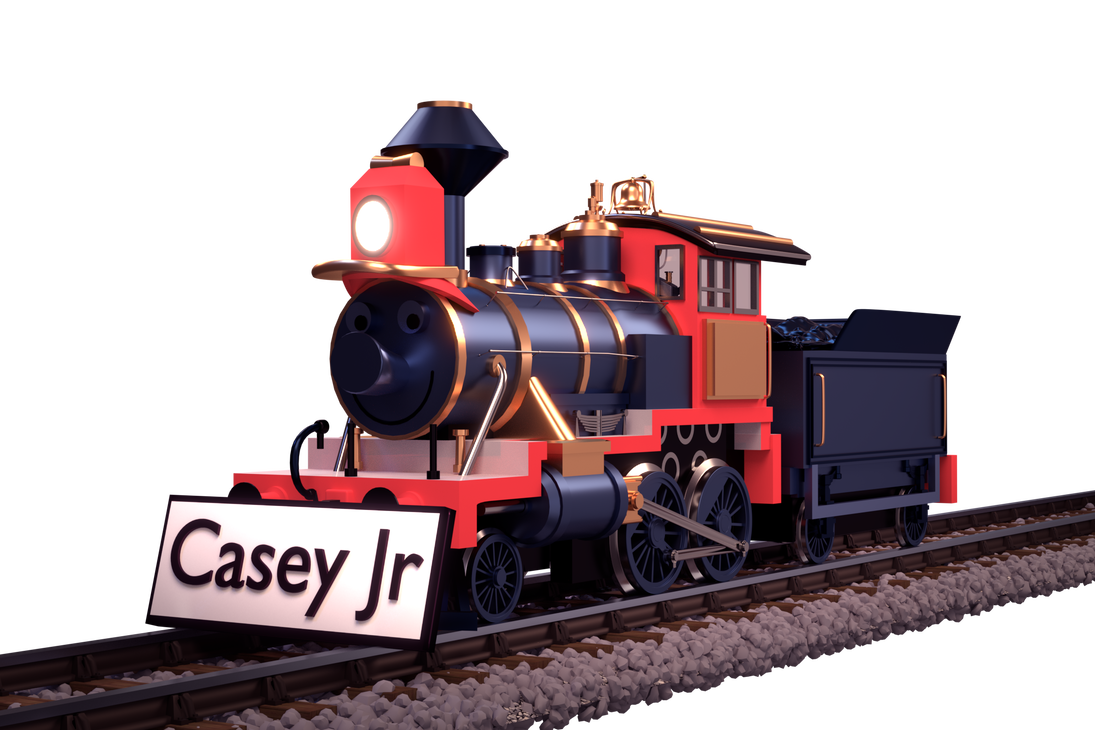 Transparent train realistic. Casey jr by cosmicrenders