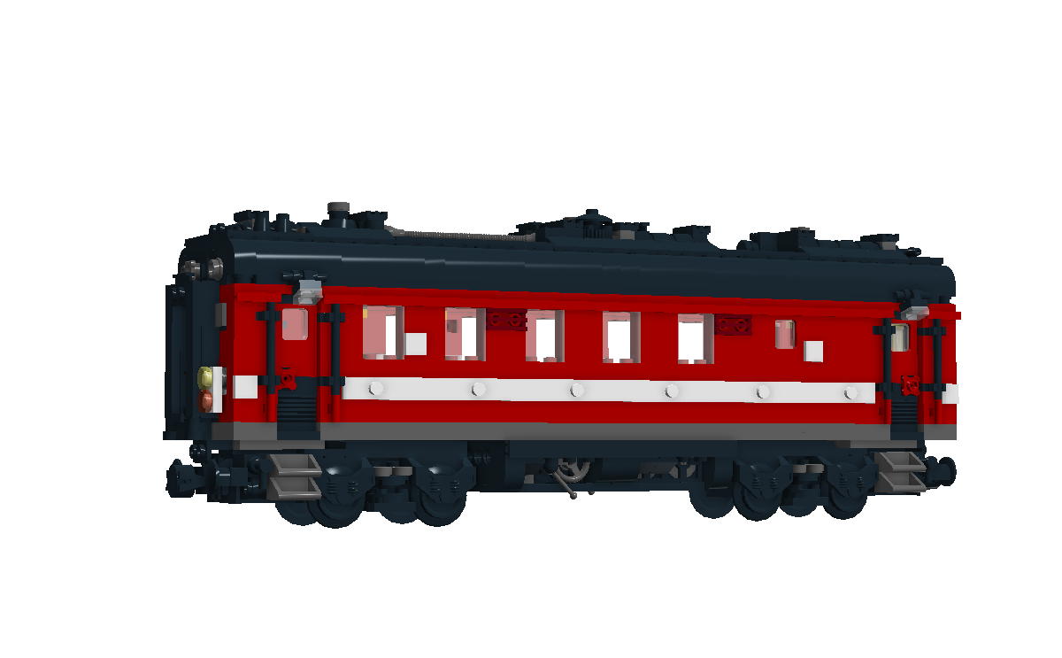 Transparent train side. Moc inspired by a
