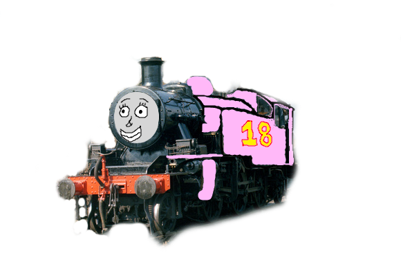 Transparent train thomas and the magic railroad. Abigail pink engine by