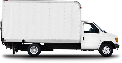 Truck transparent delivery. Minivan picture free