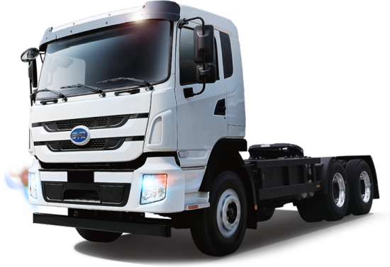 Truck transparent green. Byd electric trucks now