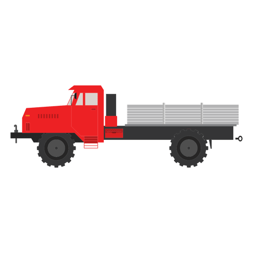 Transparent trucks vector. Side truck colorful png